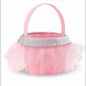 Mud Pie Pink Tutu Basket